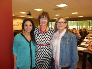 From left to right: Kaylan Arendale and Sue Landry with SETRPC and Bonnie Loiodice with Family Services